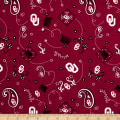 NCAA University of Oklahoma Bandana Prints Red