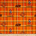 NCAA Oklahoma State University Plaid Prints Orange