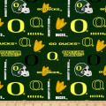 NCAA University of Oregon Logo Allover Green