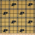 NCAA Purdue University Boilermakers Flannel Plaid Black