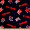 NCAA Syracuse University Flannel Distressed Logo Orange
