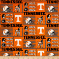 NCAA University of Tennessee Patch Logos Allover Orange