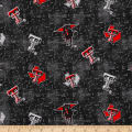 NCAA Texas Tech University Flannel Distressed Logo Red