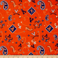 NCAA University of Virginia Bandana Prints Orange