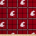 NCAA Washington State University Cougars Flannel Plaid Red