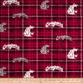 NCAA Washington State University Plaid Red