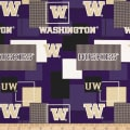 NCAA University of Washington Blocks Allover Blue/Yellow