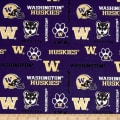 NCAA University of Washington Distressed Logo Blue