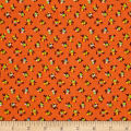 New Country Calicos Flowers Orange/Lime