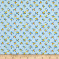 New Country Calicos Flowers Powder Blue