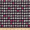 Art Gallery Decadence Houndstooth XIV Amour Jersey Knit Black