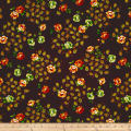 Botanical Garden Floral Brown