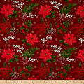 Christmas Holly Metallic Red/Gold
