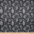 "108"" Wide Back Paisley Black"