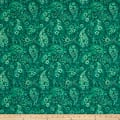 "108"" Wide Back Paisley Emerald Green"