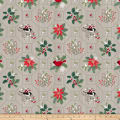 Swedish Christmas Allover Tiles Dark Grey