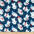Yeti For Winter Polar Bears Slaying Flannel Navy