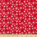 Yeti For Winter Snowflakes Flannel Red