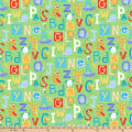 Northcott Alphabet Soup Animal ABCs Green