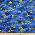 Trans-Pacific Textiles Sealife Hawaiian Turtle Royal