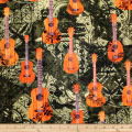 Trans-Pacific Textiles Modern Arts Ukuleles Sage