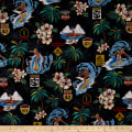 Trans-Pacific Textiles Surftown Big Wave Warning Black