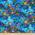 Trans-Pacific Textiles Sealife Reserve Turquoise