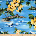 Trans-Pacific Textiles Lost in Paradise Blue