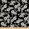 Trans-Pacific Textiles Hibiscus Mini Pareau Black