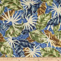 Trans-Pacific Textiles Fall Leaves Blue
