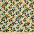 Trans-Pacific Textiles Tropical Micro Pineapples Cream