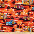 Trans-Pacific Textiles Waikiki Cruisin Red