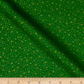 QT Fabrics Basics Holiday Metals Stars Blender Green/Metallic Gold