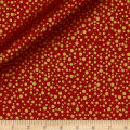 QT Fabrics Basics Holiday Metals Dots Blender Red/Metallic Gold