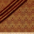 QT Fabrics Basics Luminous Lace Chevron Brocade Blender Metallic Wine