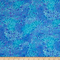 QT Fabrics Basics Ombre Scroll Blender Ocean Blue