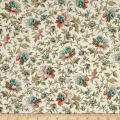 QT Fabrics Antiquities Bethel Packed Floral Cream