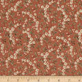QT Fabrics Antiquities Bethel Floral & Leaves Terracotta