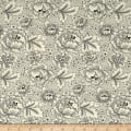 QT Fabrics Antiquities Colebrook Large Linear Floral Cream/Black