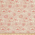 QT Fabrics Antiquities Colebrook Large Linear Floral Cream/Red