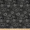QT Fabrics Antiquities Colebrook Large Linear Floral Black