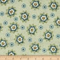 QT Fabrics Antiquities Stafford Spaced Dotted Floral Light Olive