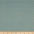 QT Fabrics Antiquities Stafford Diamond Plaid Blue