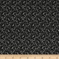 QT Fabrics Antiquities Windsor Scroll Black