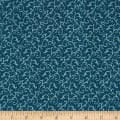 QT Fabrics Antiquities Windsor Scroll Denim