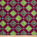 Supreme African Wax Print Broadcloth 6 Yards Green/Purple