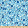 Studio E American Folk Abstract Light Blue