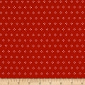 Riley Blake Autumn Love Cross Stitch Red