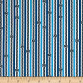 Riley Blake Pirates Life Knotty Rope Stripe Blue