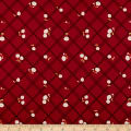 Penny Rose Calico Crow Plaid Red